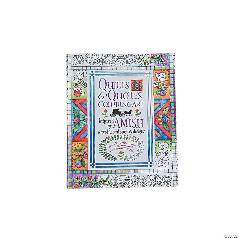 Quilts & Quotes Adult Coloring Book