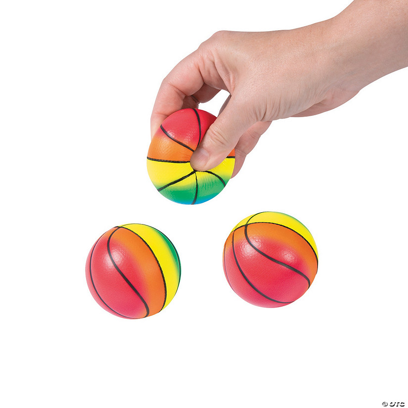 Rainbow Basketball Stress Balls