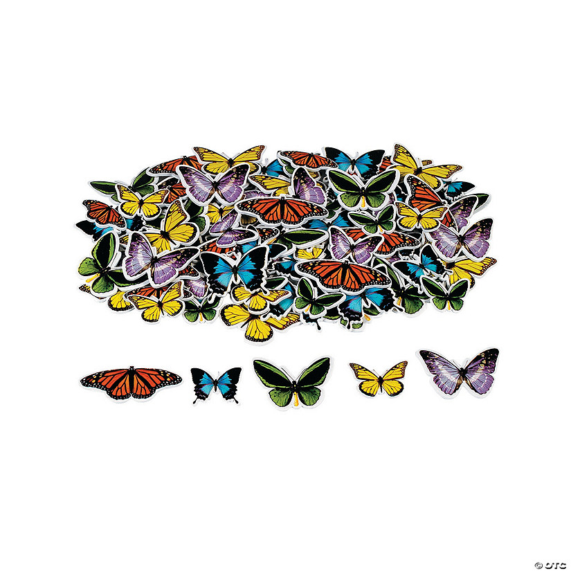 Realistic Butterfly Self-Adhesive Shapes