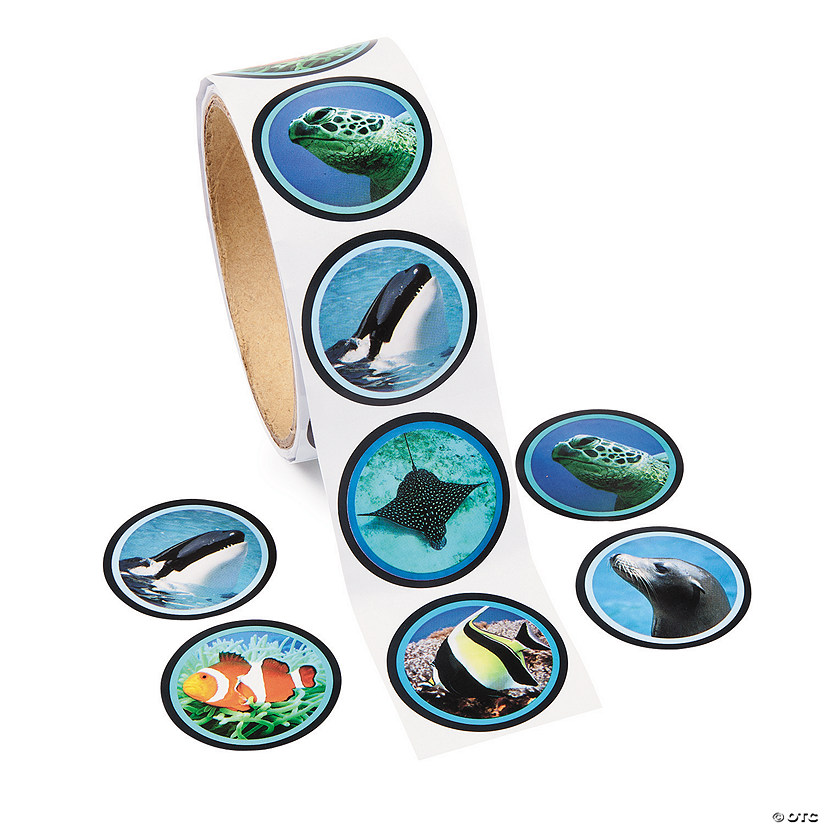 Realistic Photo Ocean Life Stickers