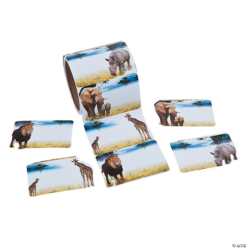 Realistic Safari Animal Name Tags/Labels