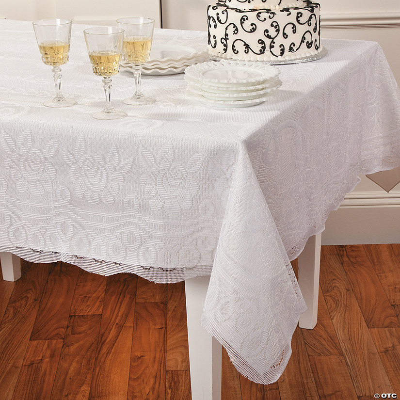 Rectangle White Lace Tablecloth