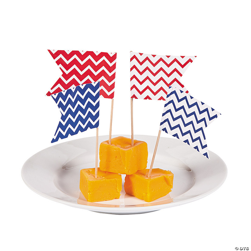 Red & Blue Chevron Picks