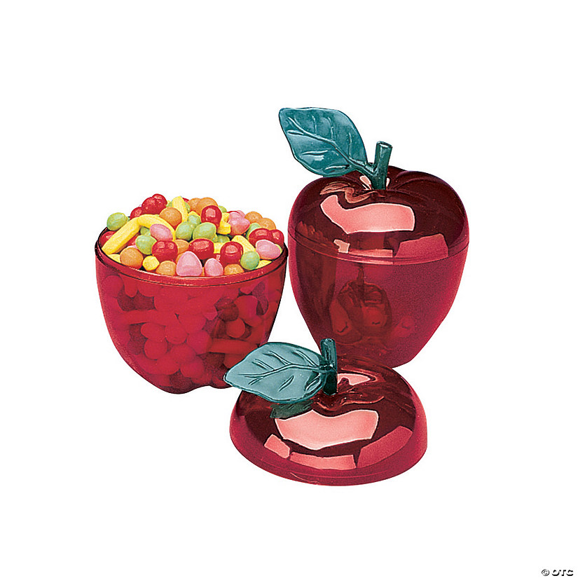Red Apple Favor Containers