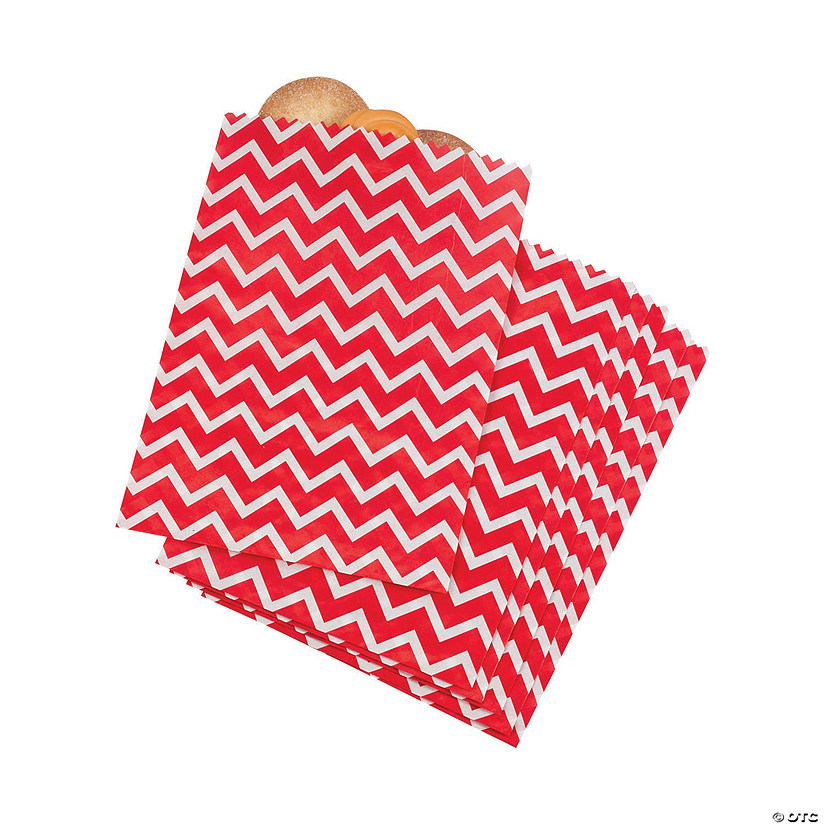 Red Chevron Treat Bags
