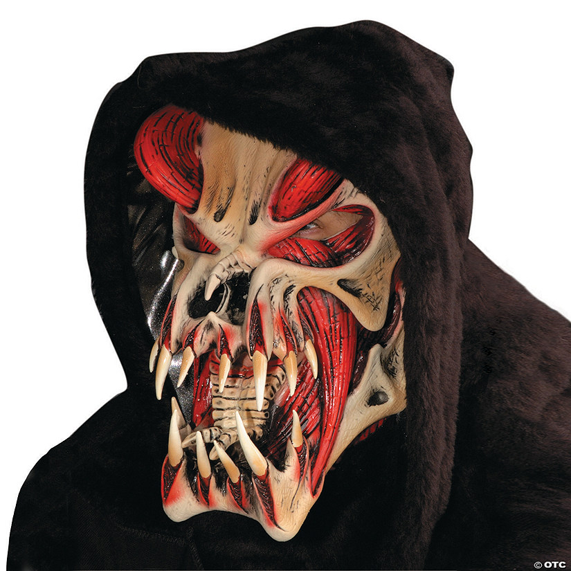 Red Halloween Predator Mask