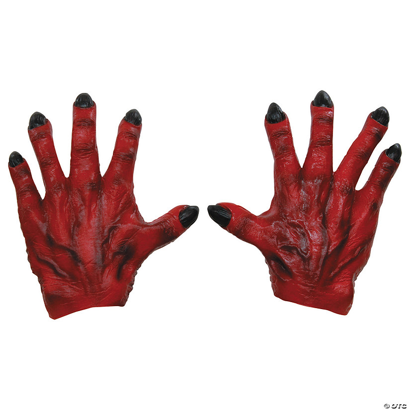 Red Latex Monster Hands