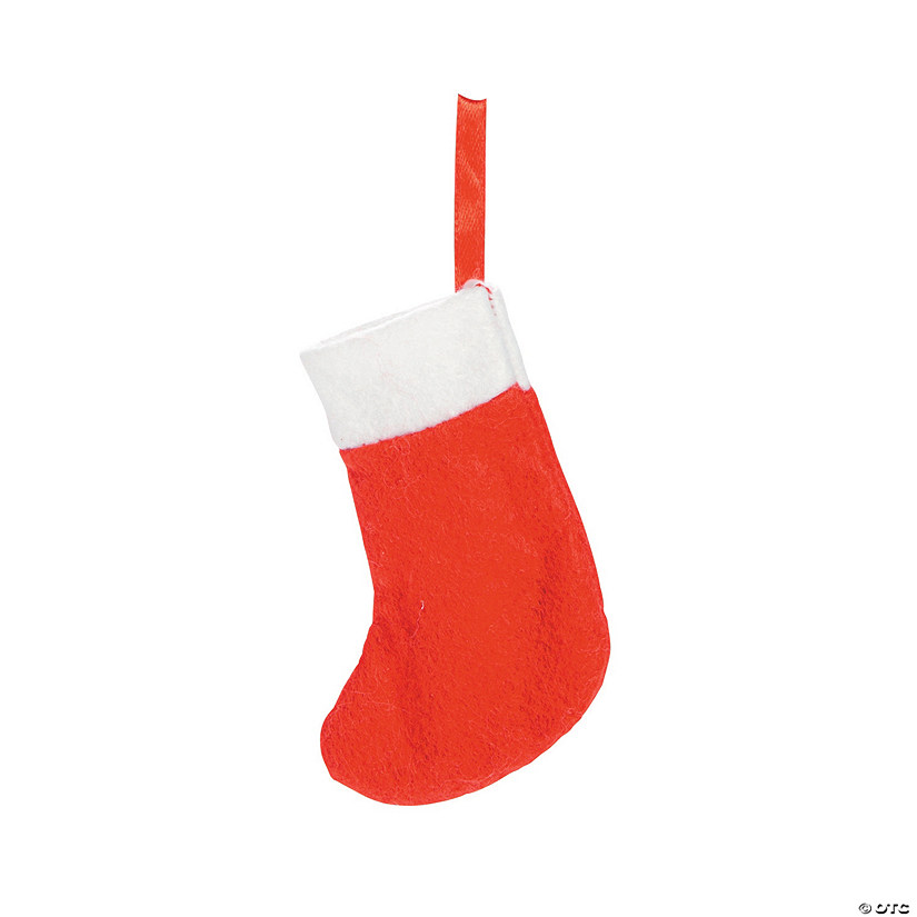 Red Mini Holiday Stockings