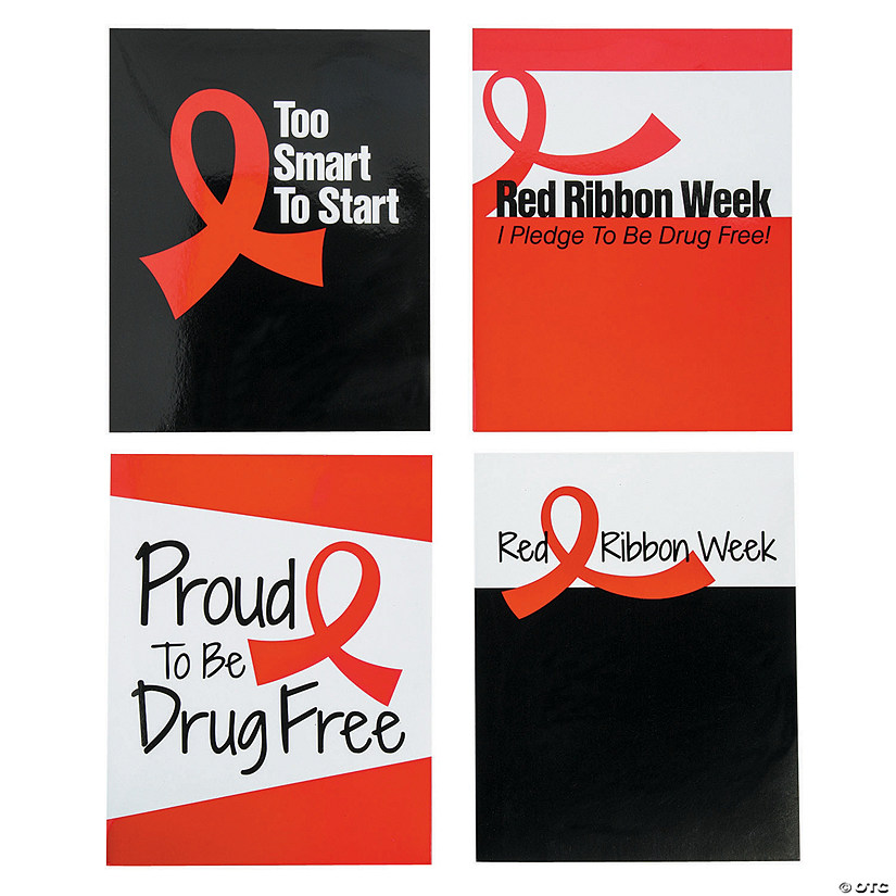 Red Ribbon Week Pocket Folders