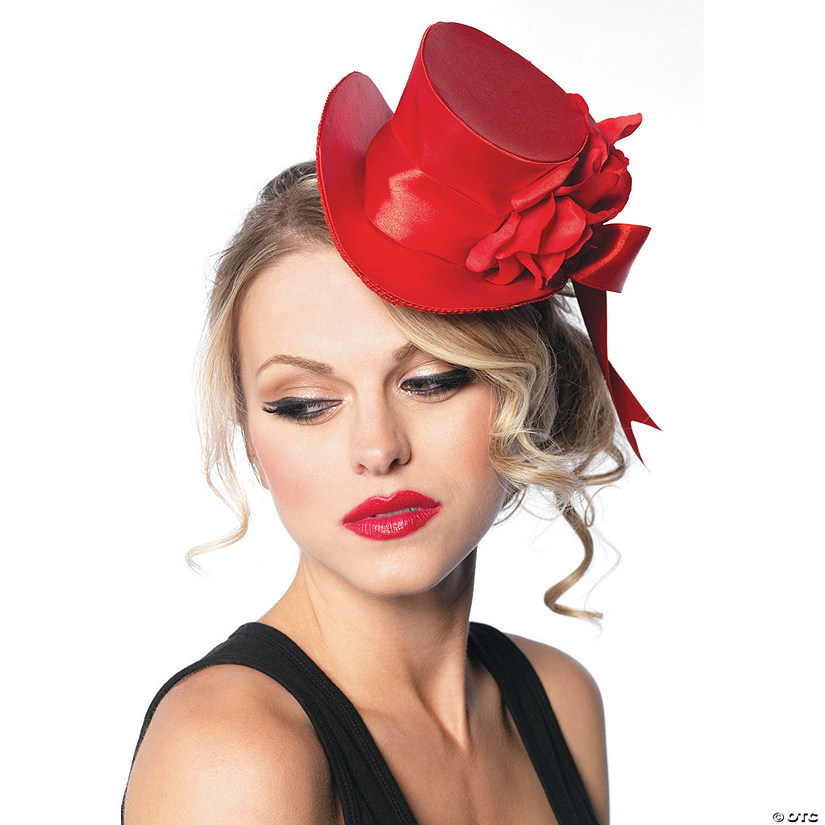 Red Satin Top Hat Mini