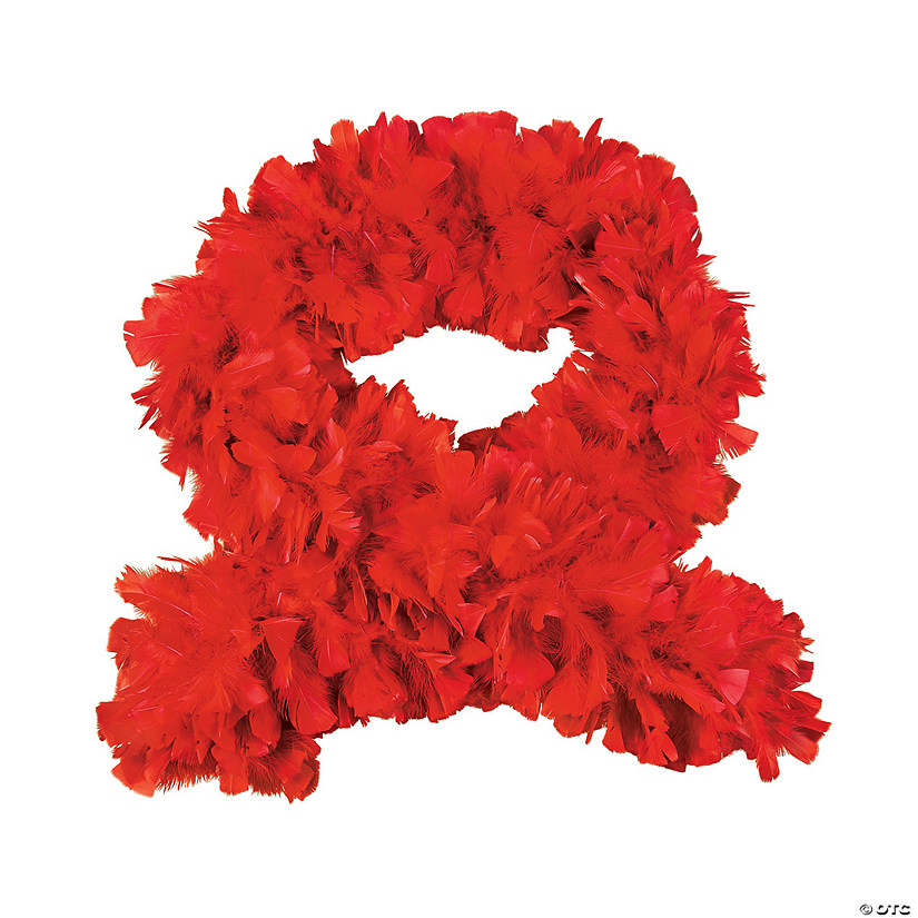 Red Turkey Feather Deluxe Boa