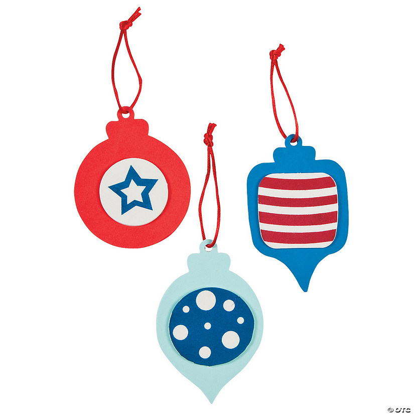 Red White & Blue Christmas Ornament Craft Kit