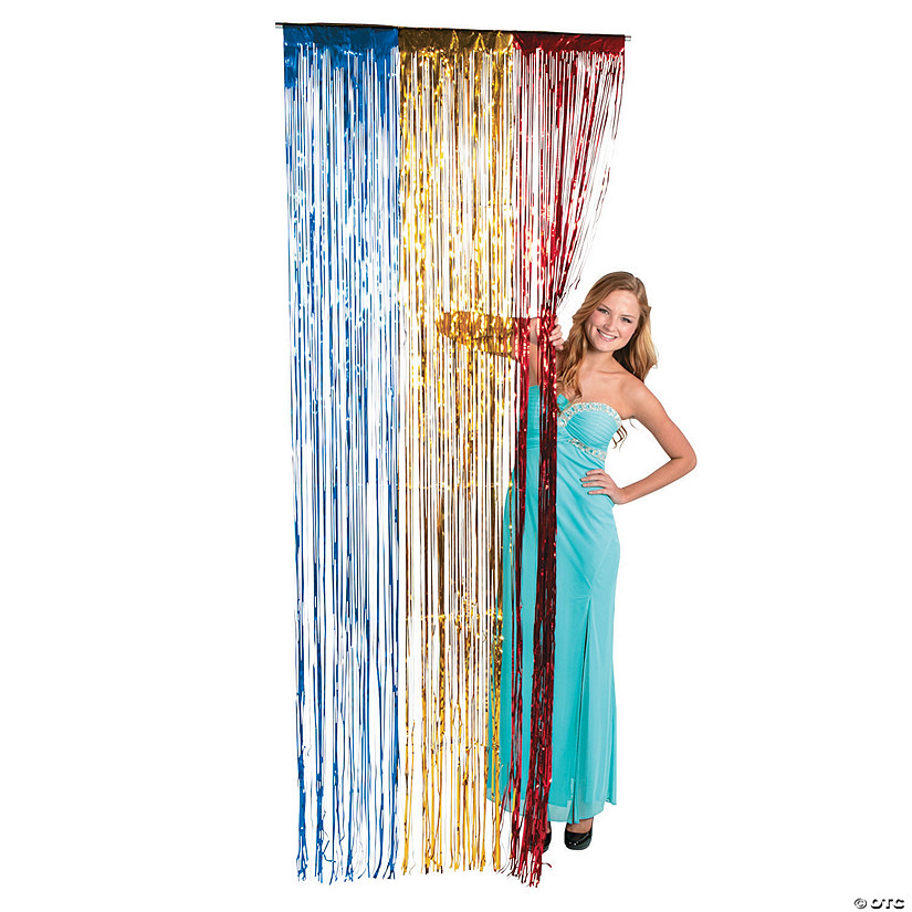 Red, Yellow & Blue Fringe Door Curtain