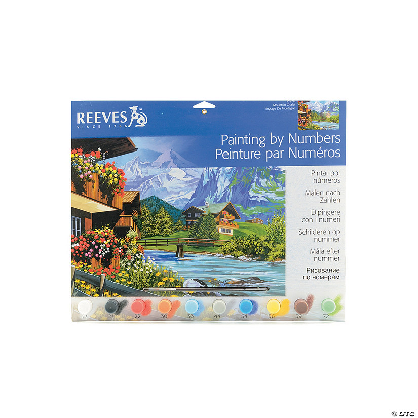 Reeves Paint By Numbers Mountain
