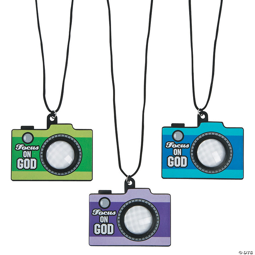 Religious Camera Prism Necklaces