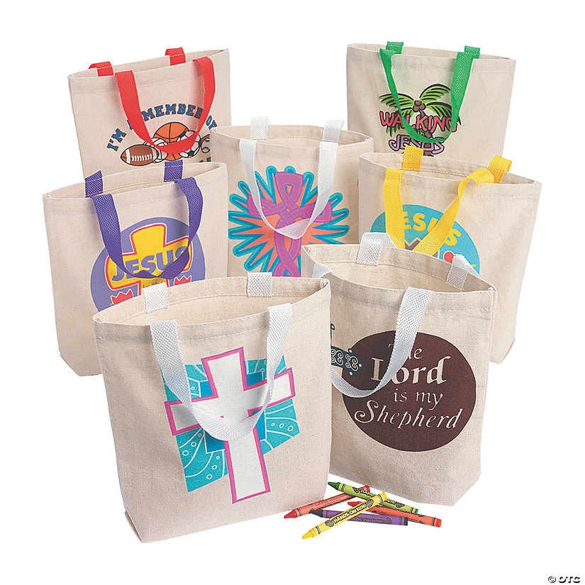 Religious Canvas Tote Bag Assortment