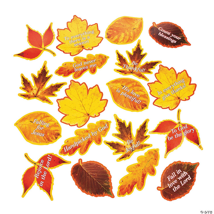 Religious Fall Leaf Cutouts