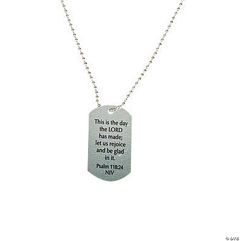Religious Sayings Dog Tag Necklaces