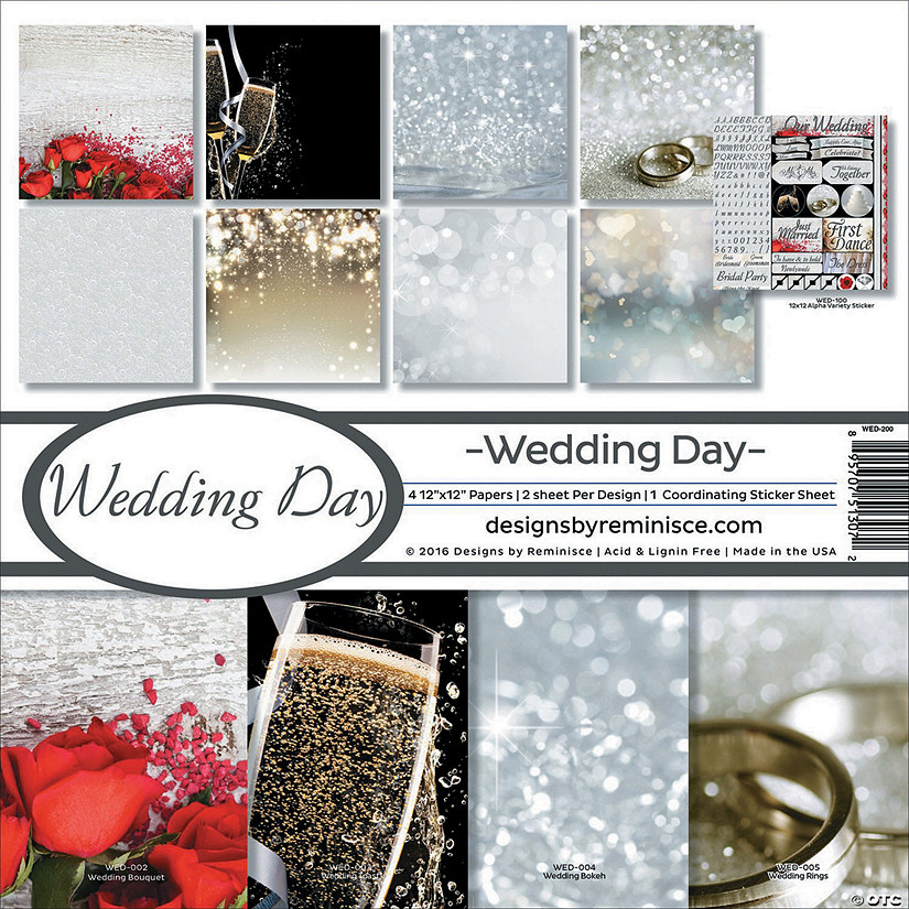 "Reminisce Collection Kit 12""X12""-Wedding Day"