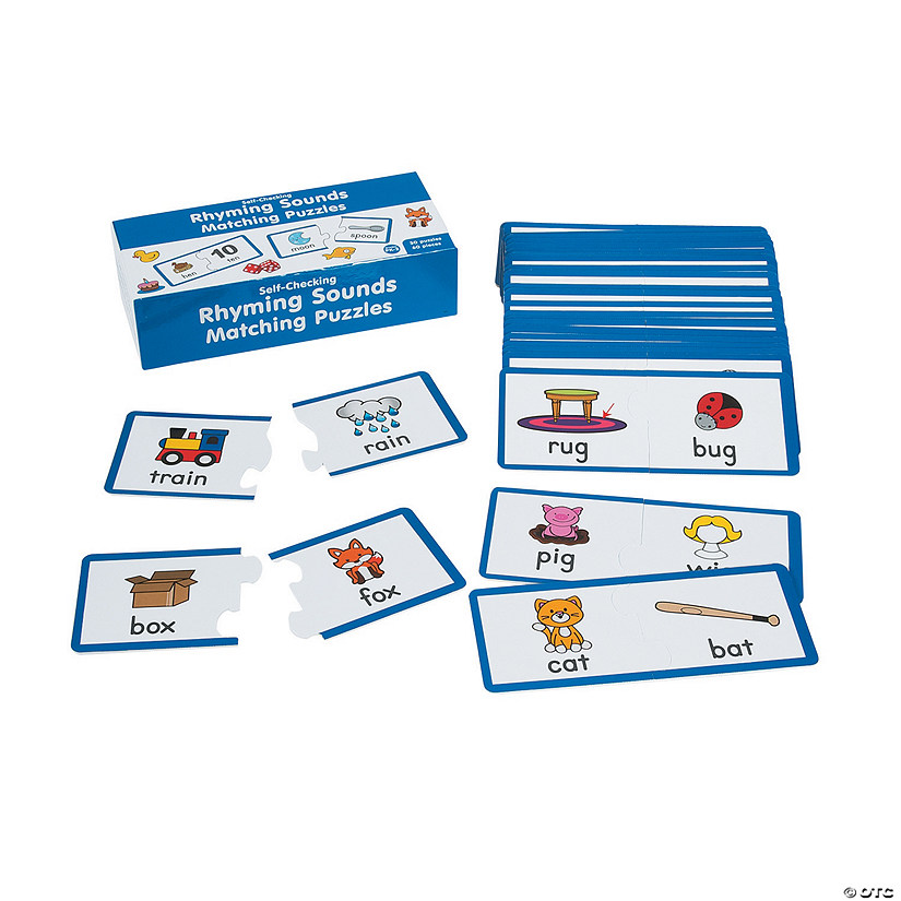 Rhyming Sounds Matching Puzzles
