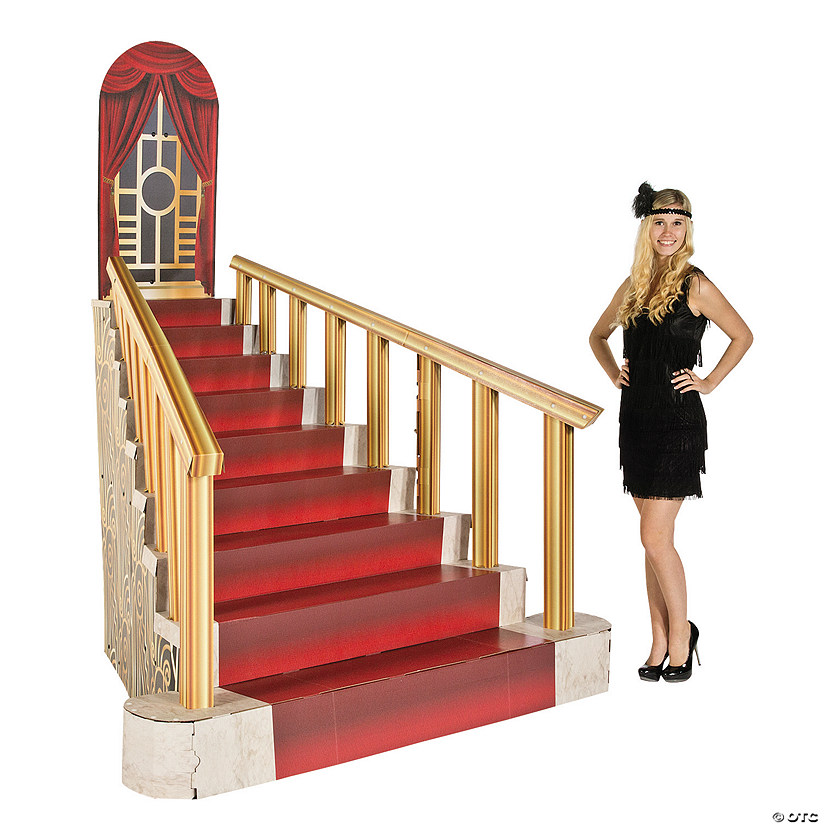 Roaring '20s Grand Staircase Cardboard Stand-Up