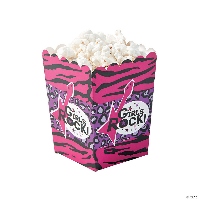Rock Star Diva Popcorn Boxes