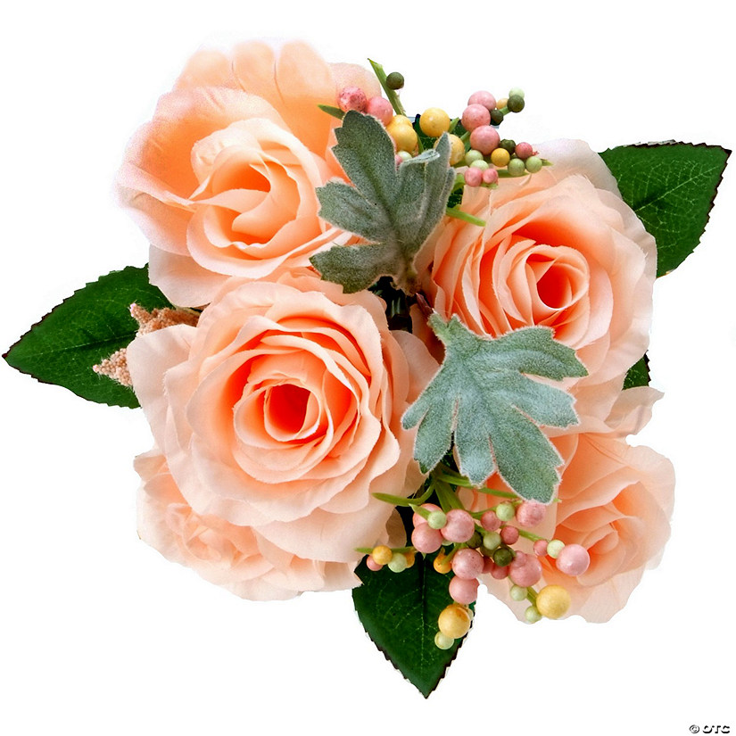 "Rose Bouquet 11.5""-Peach"