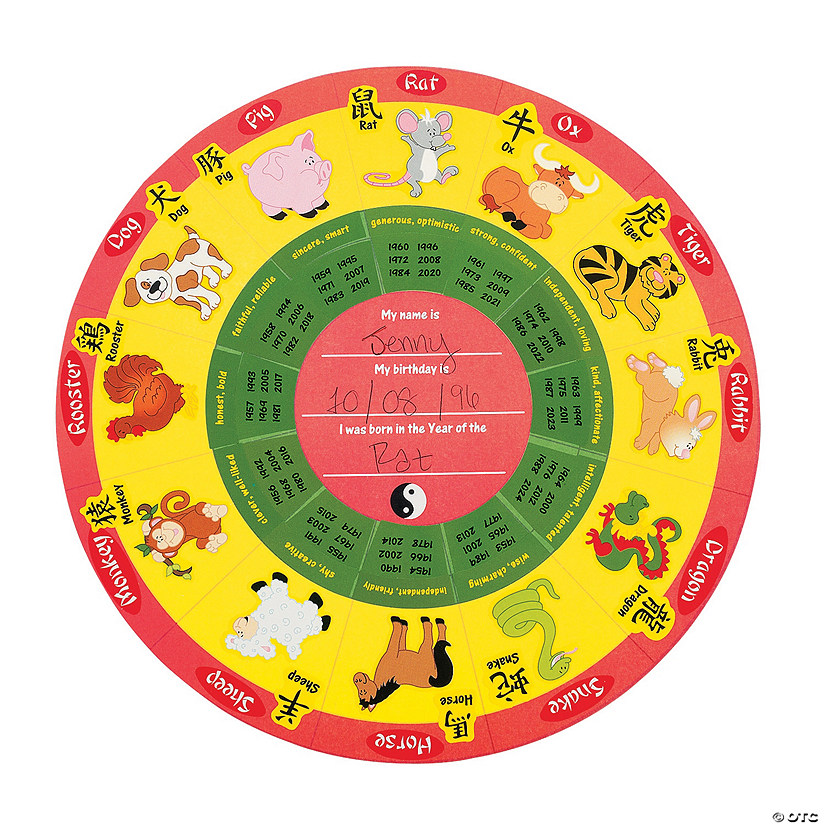 Calendar Chinese New Year : Round chinese new year stickers calendar