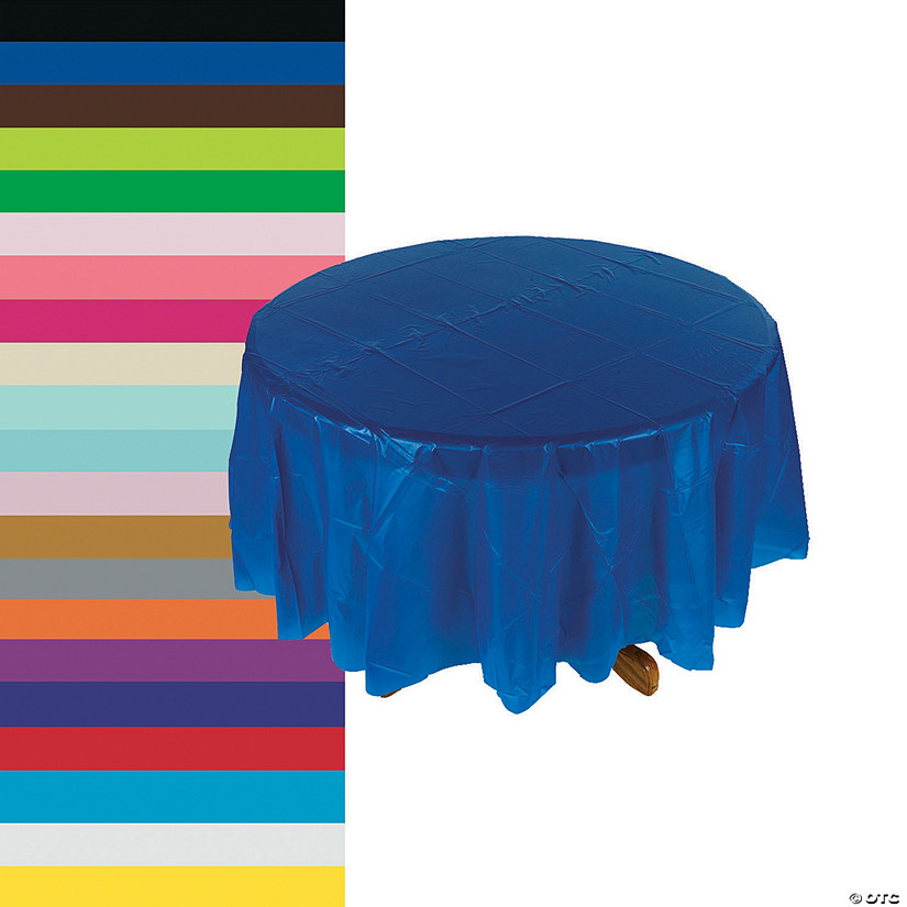 Round Plastic Tablecloth