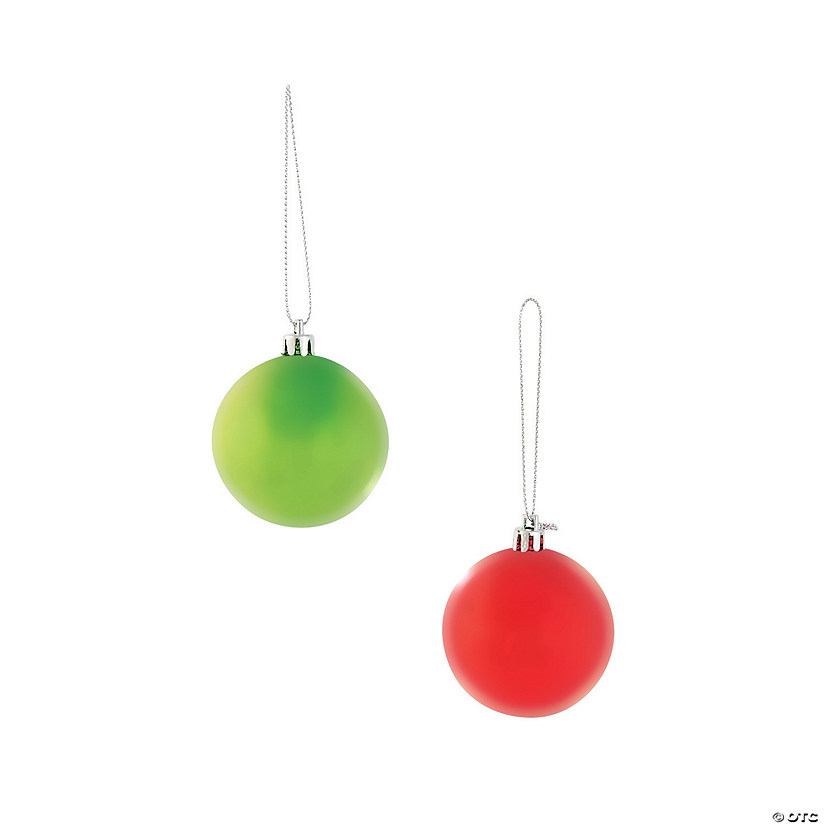 Round Red & Green Christmas Ornaments