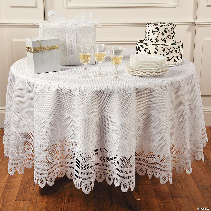 Round White Lace Tablecloth