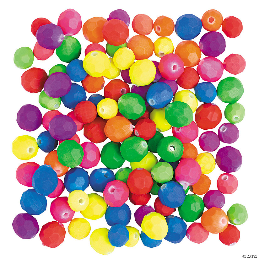 Rubber Coated Faceted Beads - 6mm