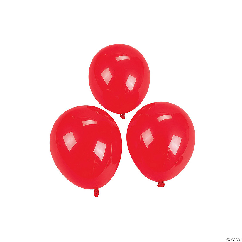 "Ruby Red 5"" Latex Balloons"