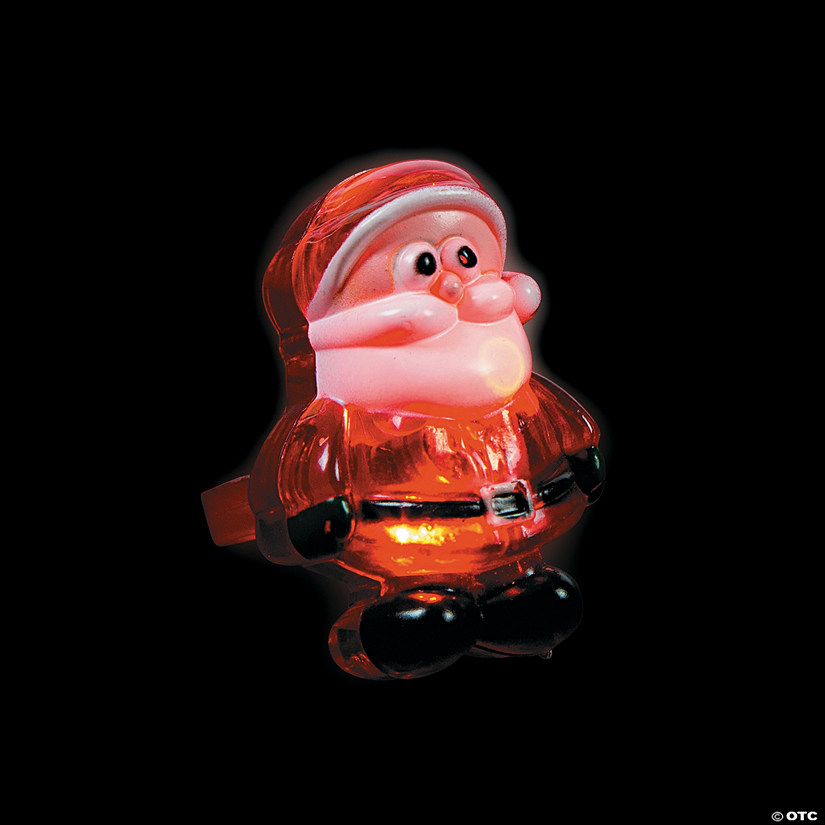 Santa light up rings