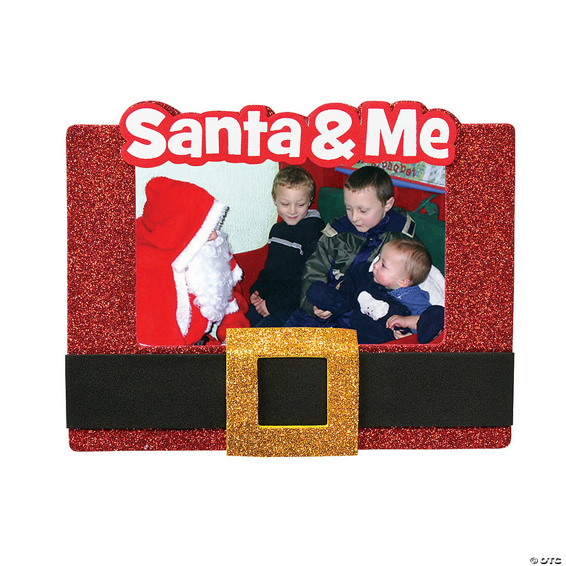Santa's Belt Christmas Picture Frame Magnet Craft Kit
