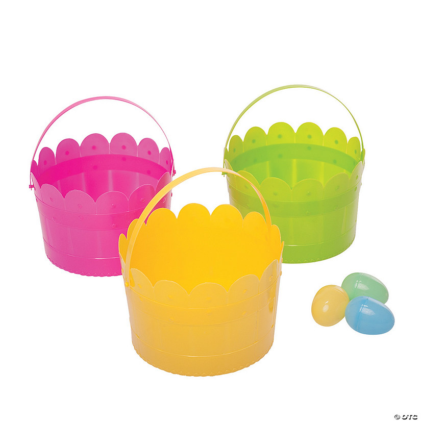 Scalloped Edge Easter Buckets