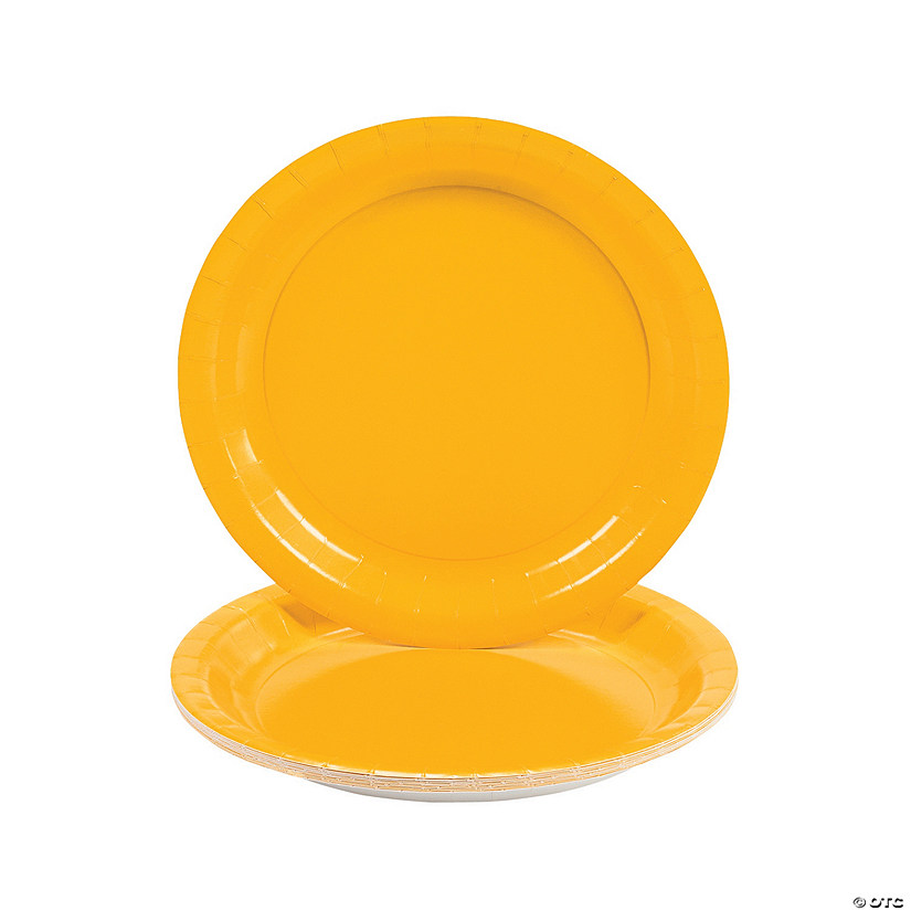 Schoolbus Yellow Paper Dinner Plates