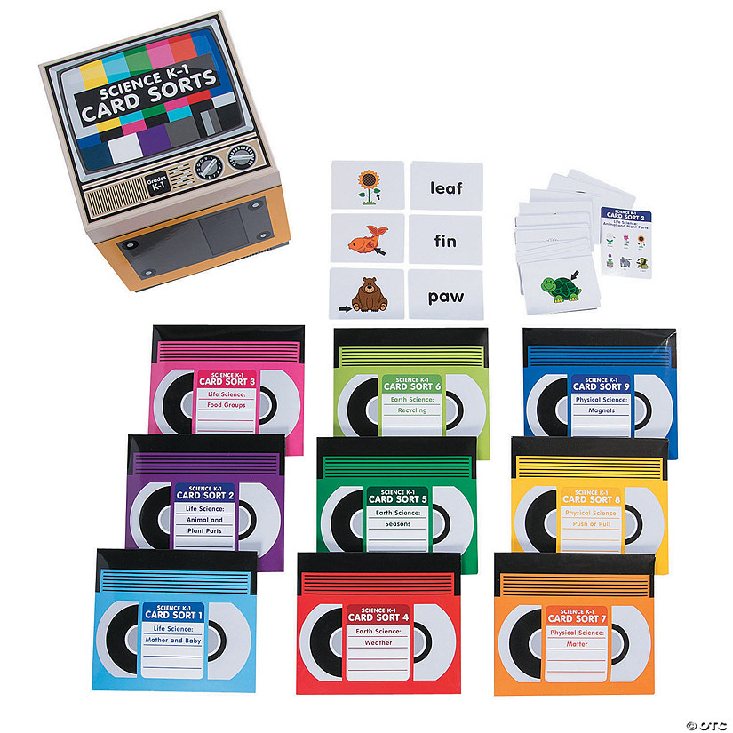Science Card Sorts Set K-1