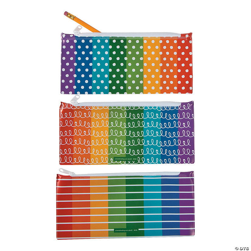 Scribbles, Dots & Stripes Pencil Cases