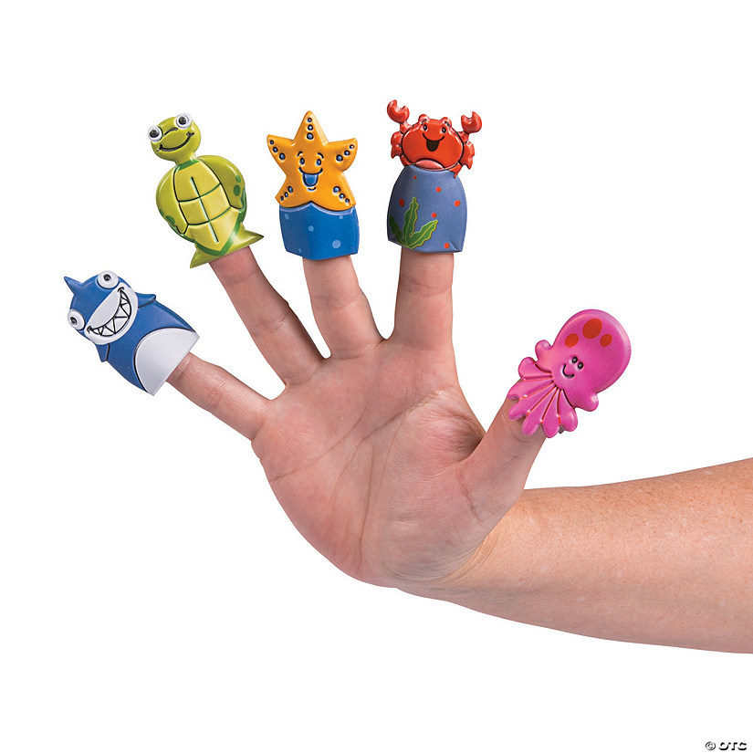 Sea Creature Puffy Finger Puppets