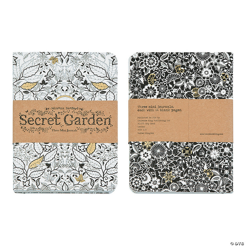 Secret Garden Adult Mini Journals by Johanna Basford