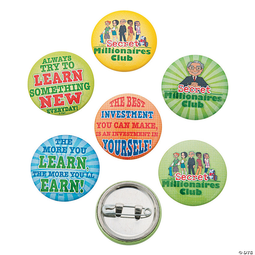 Secret Millionaires Club™ Mini Buttons