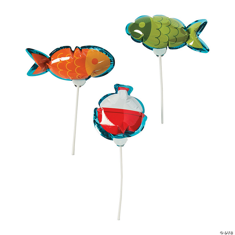 Self-Inflating Little Fisherman Mylar Balloons