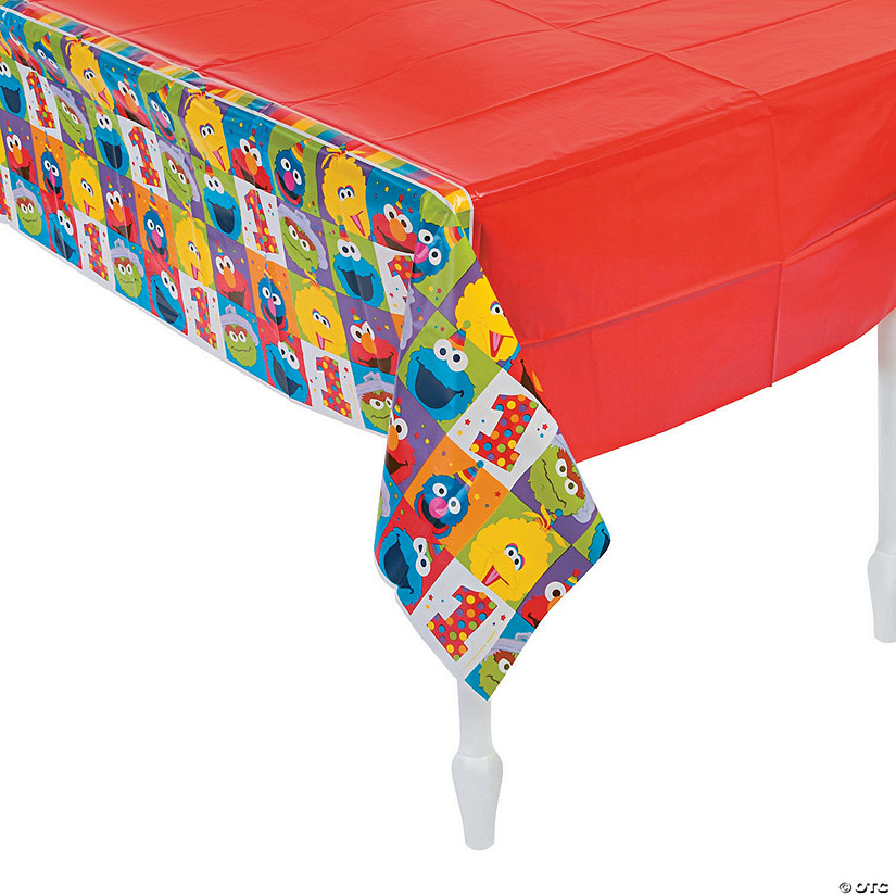 Sesame Street® Elmo Turns One Plastic Tablecloth