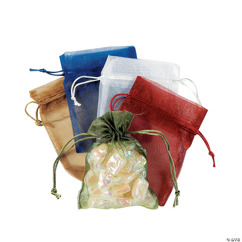 Sheer Drawstring Treat Bags