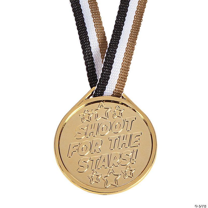 """Shoot For the Stars"" Molded Medals"