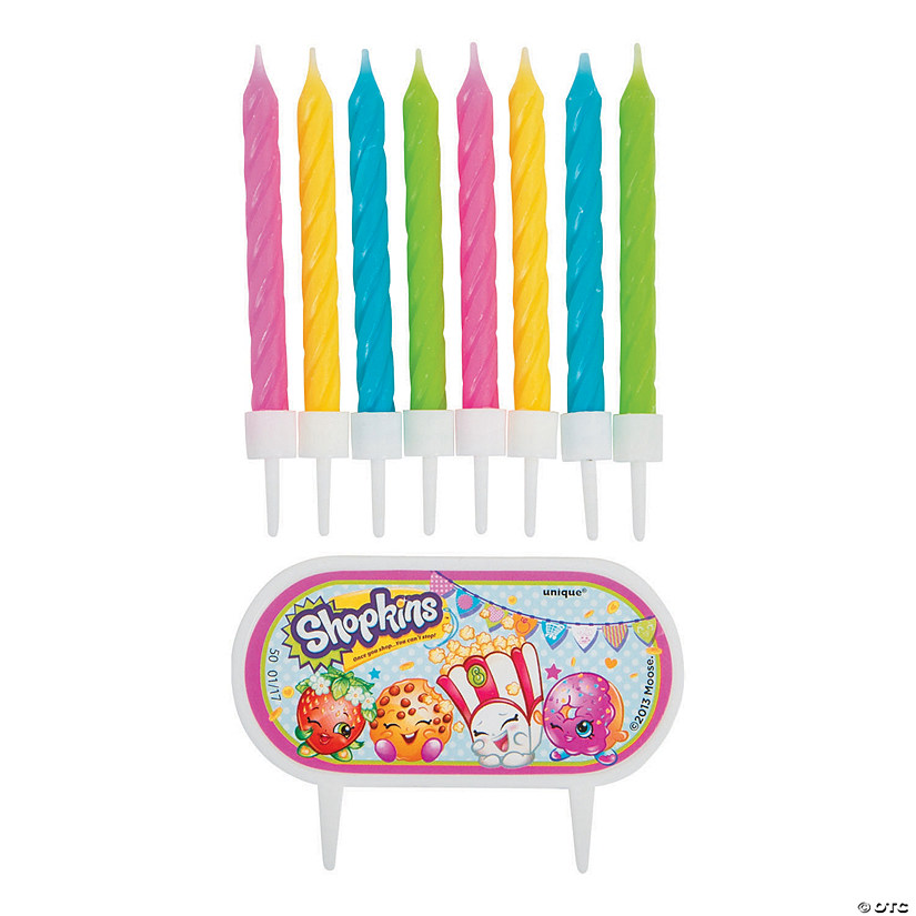 Shopkins™ Cake Decoration with Birthday Candles