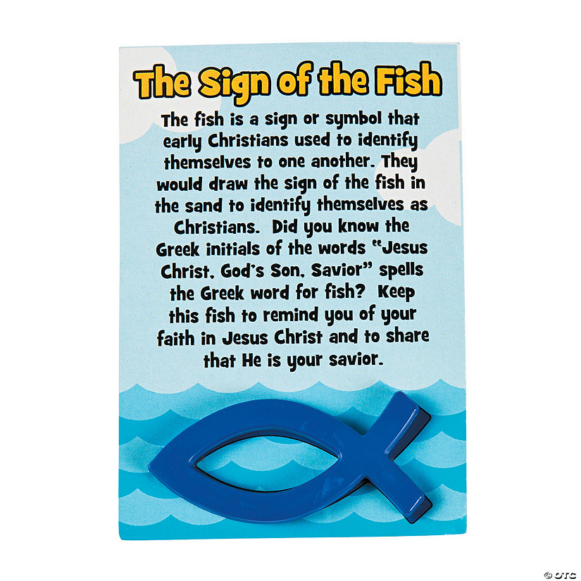 Sign of the Fish Handouts with Card