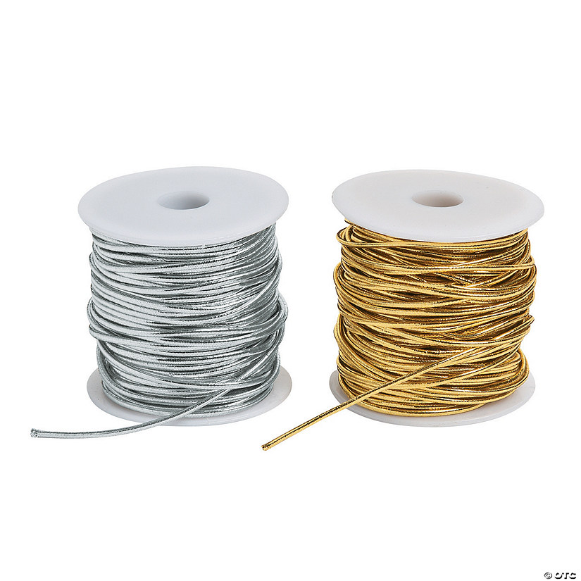 Silver & Gold Stretchy Cording