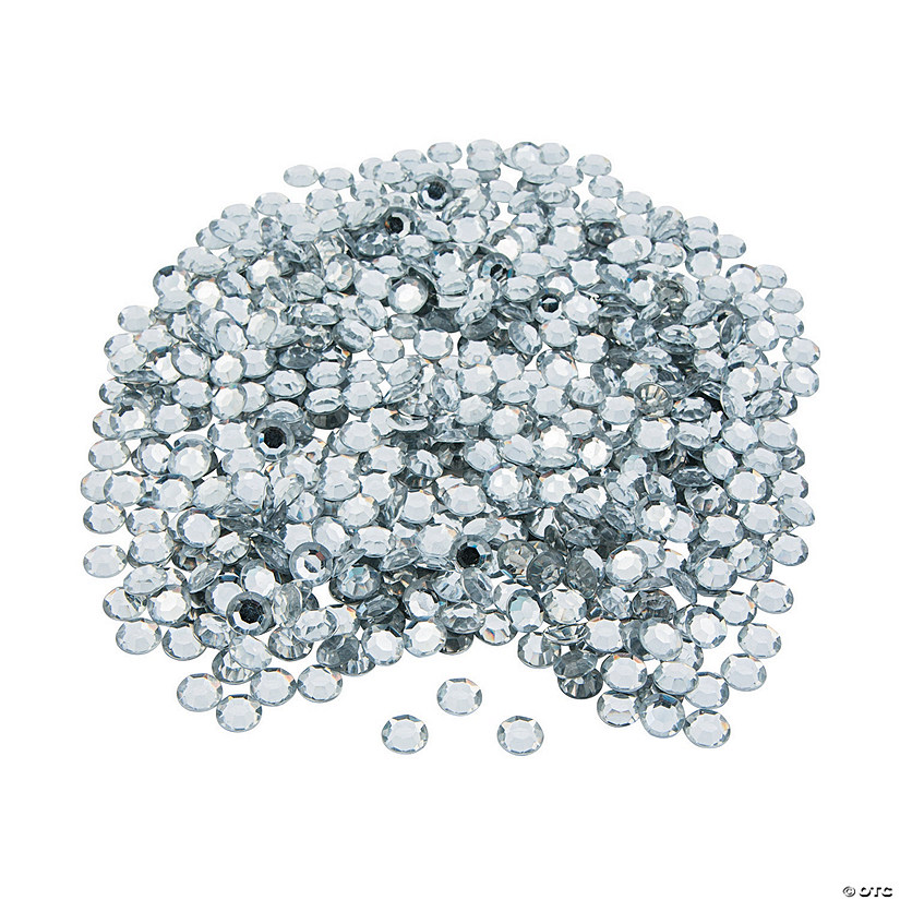 Silver Faceted Round Gems - Medium